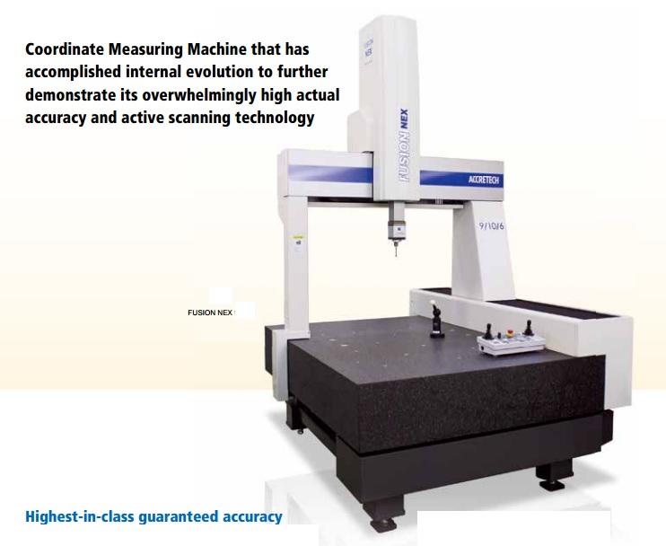 Catalogue của máy đo biên dạng 3d fusion nex 10/15/6 accretech