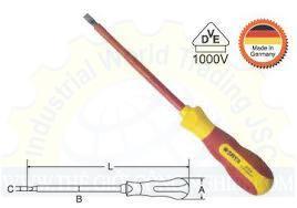 Tuốc nơ vít dẹp cách điện 1000V 61311 SATA