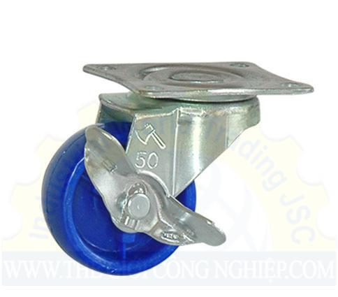 Bánh xe đế xanh có khóa B50P21 PhongThanh