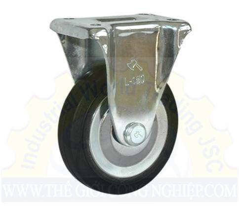 Càng bánh xe cố định, cao su L150 PhongThanh