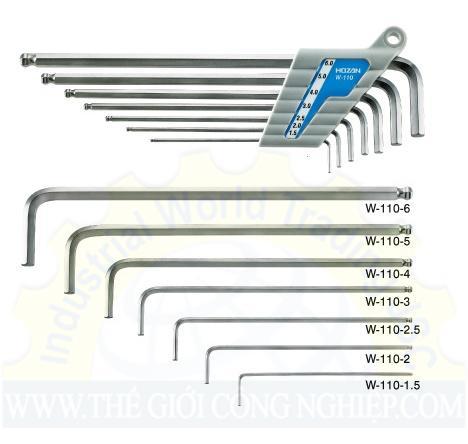 Bộ lục giác 7 chi tiết  W-110 Hozan