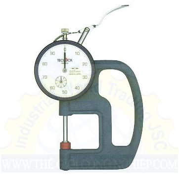 Đồng hồ đo độ dày cơ khí có dải đo 0 ~ 20 mm  SM-528 Teclock