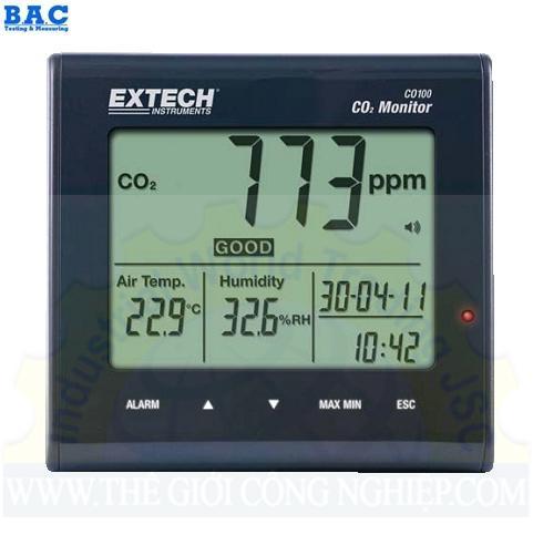ĐỒNG HỒ ĐO KHÍ CO2, NHIỆT ĐỘ VÀ ĐỘ ẨM CO100 Extech
