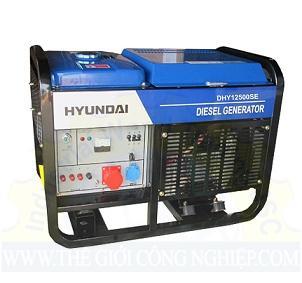 Máy phát điện chạy bằng dầu DIESEL DHY12500SE Huyndai