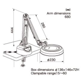 Kính lúp kẹp bàn dùng đèn huỳnh quang  SKK-CF 2X OTSUKA