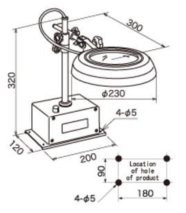 Kính lúp để bàn dùng đèn Led  SKKL-D 15X OTSUKA