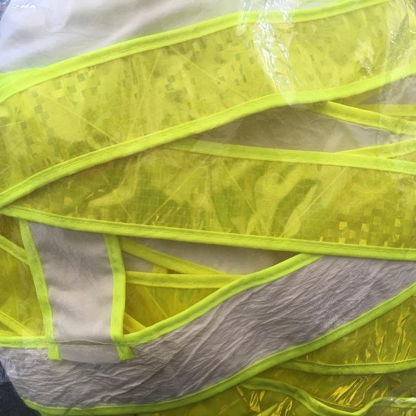 Áo phản quang dây màu xanh chuối  APQ0130-2 VIETNAMPROTECTIONS