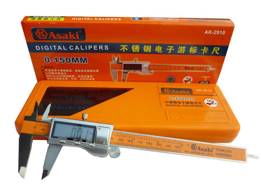 Thước cặp điện tử 6 inch 0-150mm  AK-2910 ASAKI