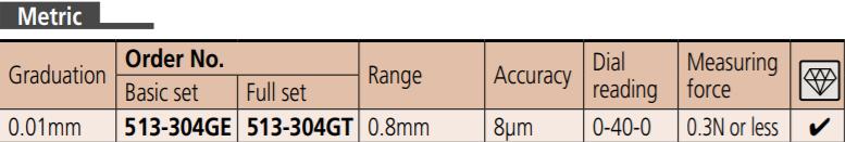 Đồng hồ so chân gập 0-0.8mm  513-304G MITUTOYO