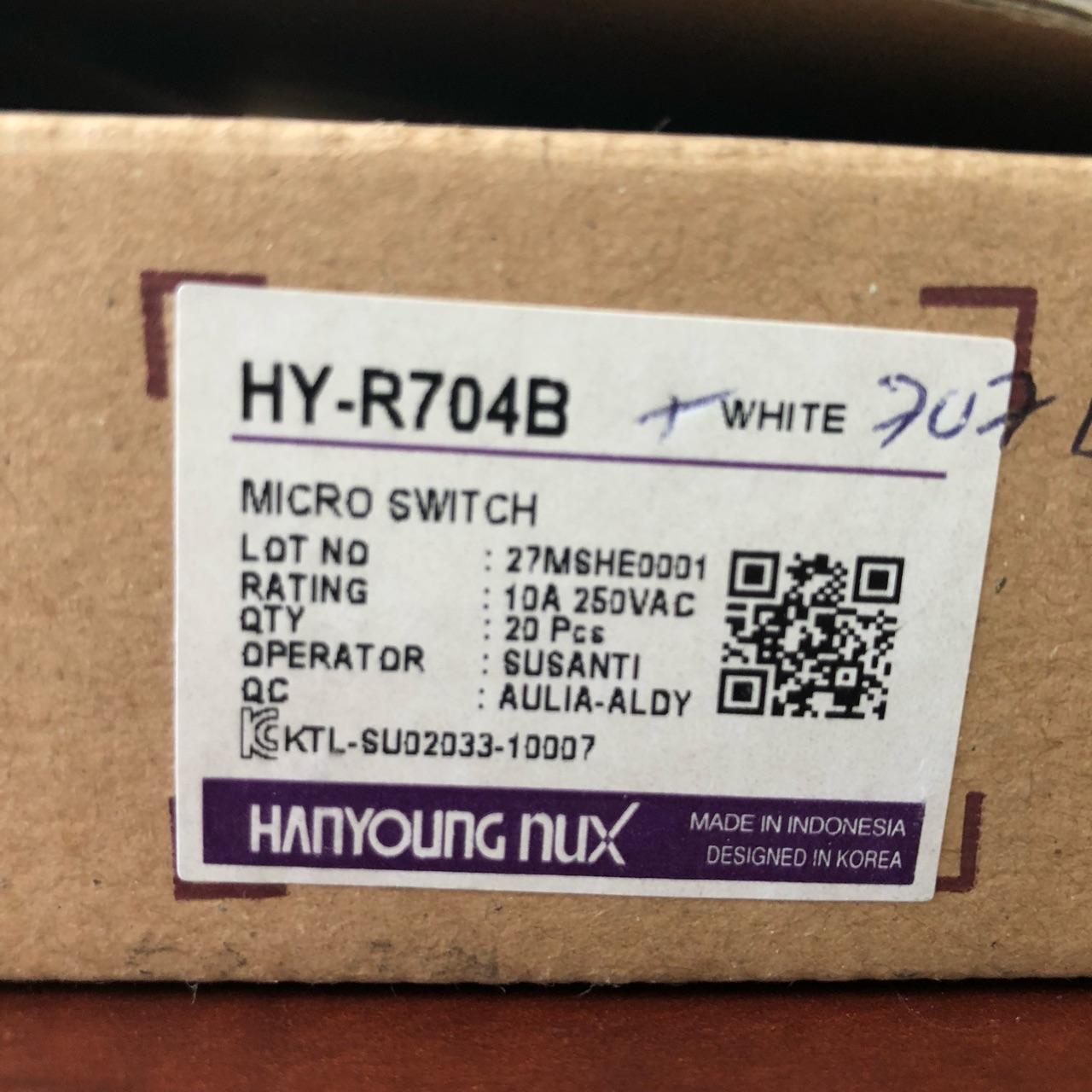 Công tắc hành trình cần vừa màu trắng  HY-L707B 10A-250VAC HANYOUNG