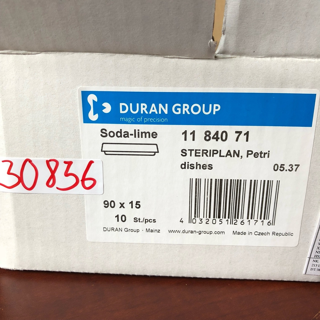Đĩa petri thủy tinh 90 x 15mm  1184071 DURAN