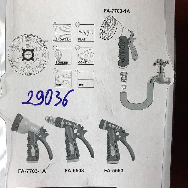 Dụng cụ xịt rửa và tưới cây 6 tia  FA-7703-1A Top