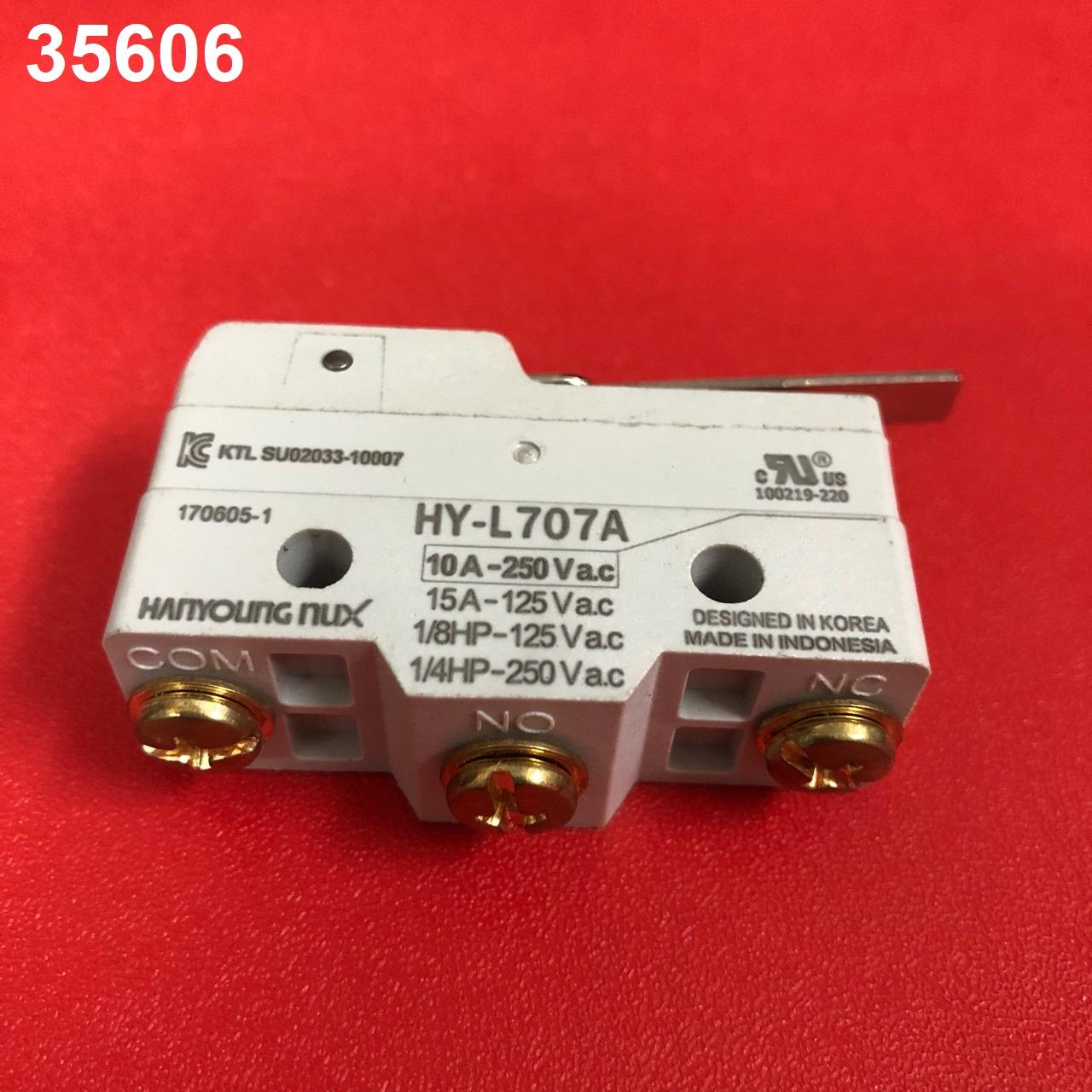 Công tắc hành trình cần ngắn màu trắng  HY-L707A 10A-250VAC HANYOUNG