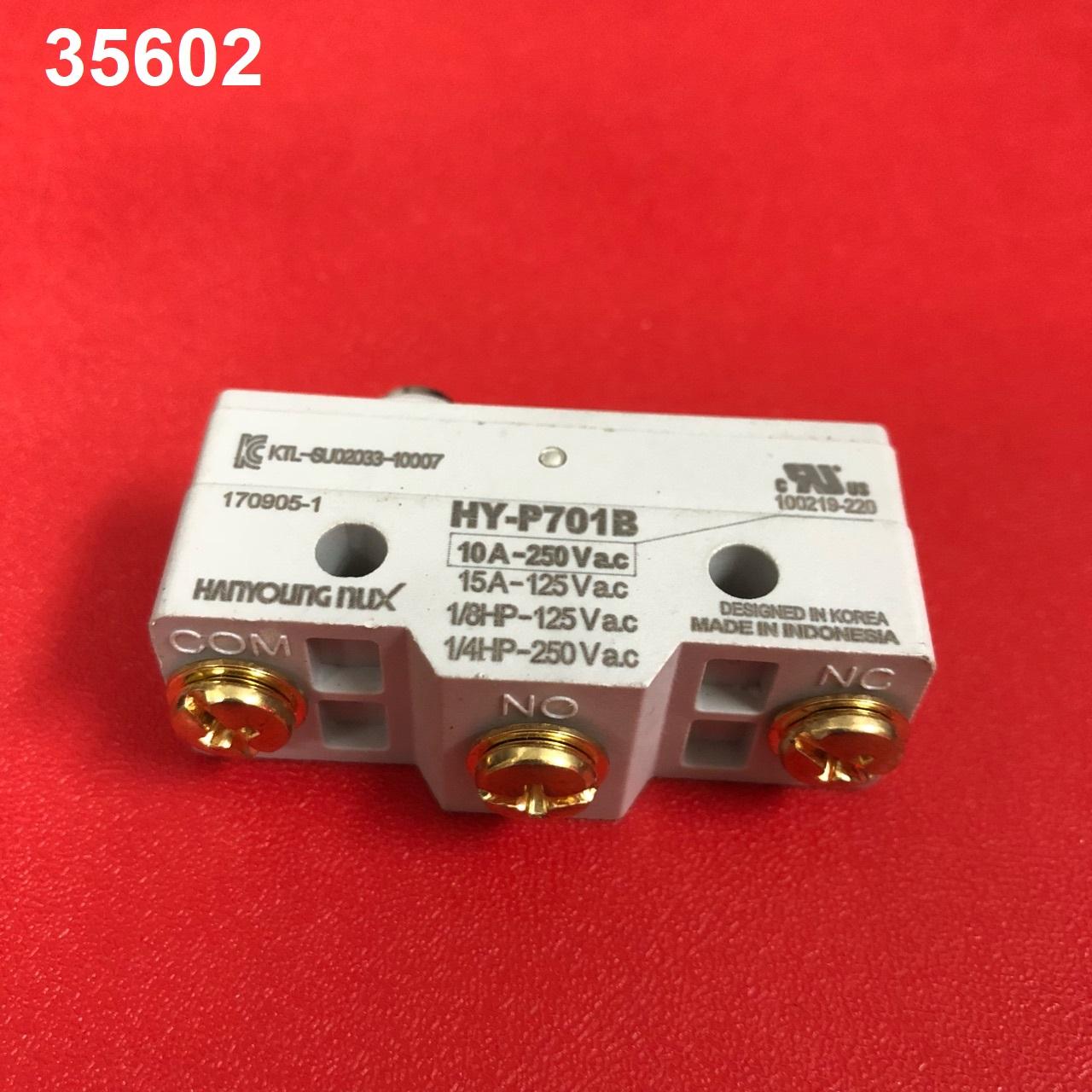Công tắc hành trình dạng đầu nút nhấn ngắn  HY-P701B HANYOUNG