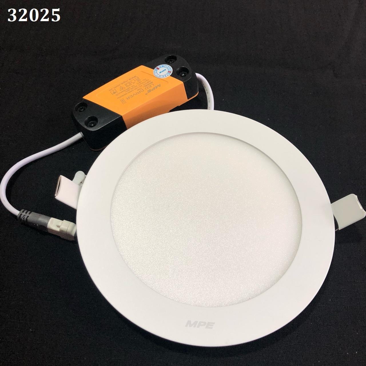 Đèn led panel tròn âm 12W , ánh sáng trắng , kích thước Ø170 mm, lỗ đục : Ø150mm  RPL-12T MPE