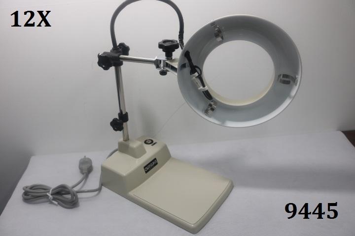 Kính lúp để bàn dùng đèn huỳnh quang có độ phóng đại 12 lần  SKK-B 12X OTSUKA