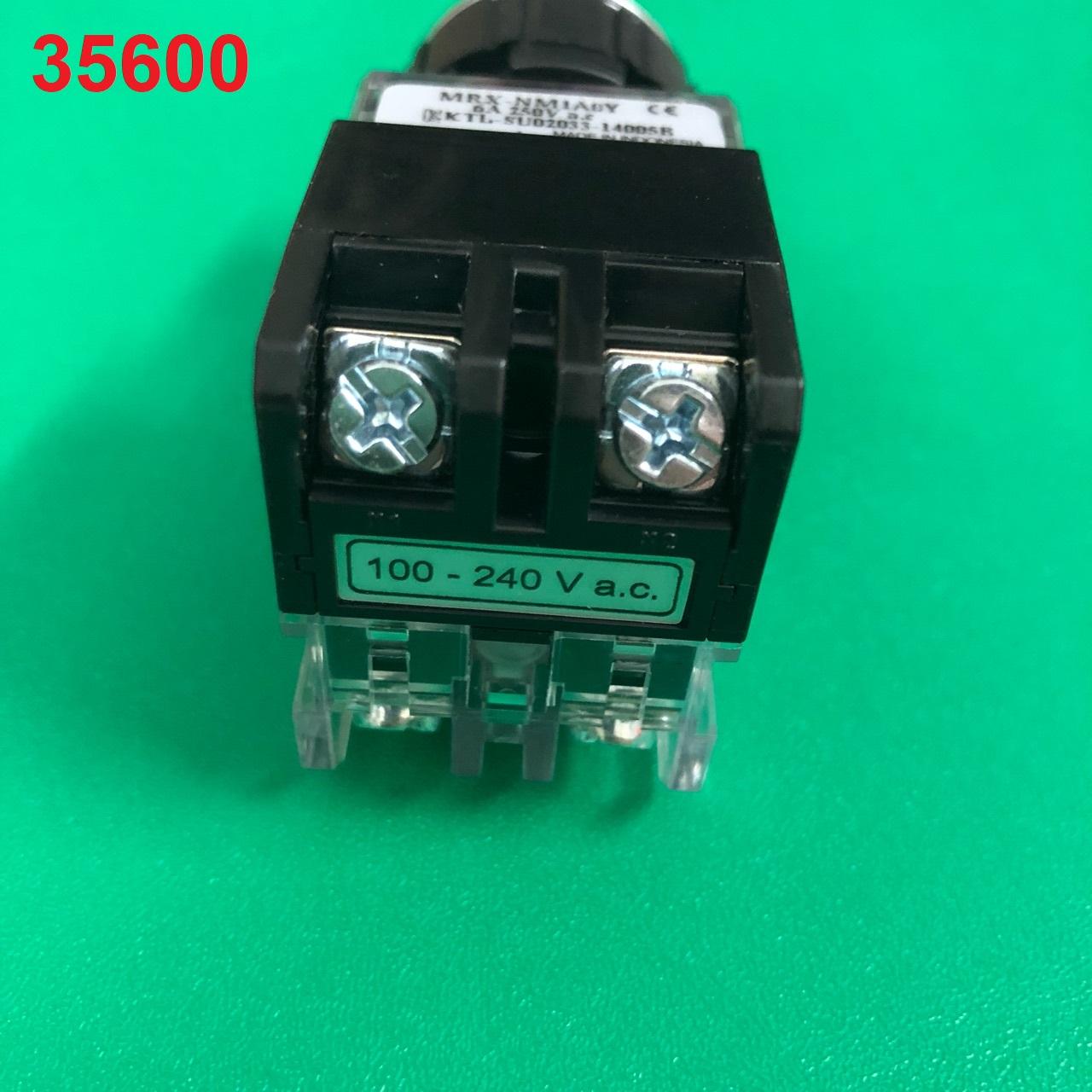 Nút nhấn có đèn, viền nhôm phi 25 1NO + 1NC, màu vàng  MRX-NM1A0Y HANYOUNG