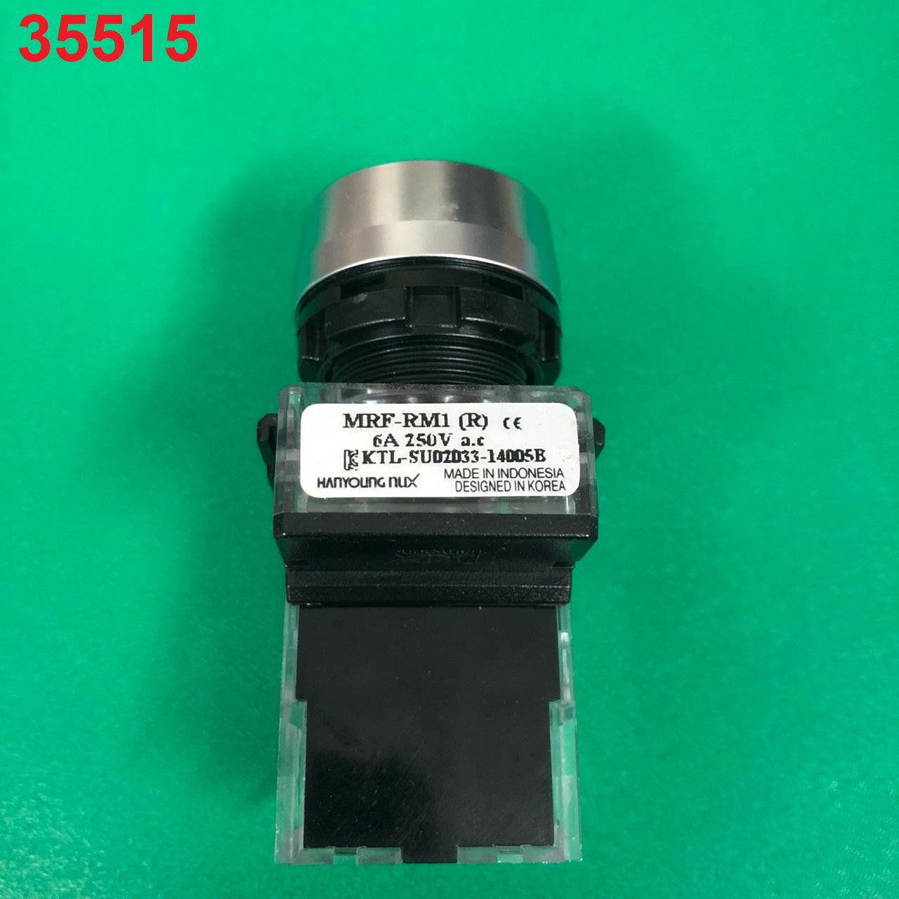 Nút nhấn không đèn viền nhôm phi 22 m  MRF-RM1 (màu đỏ) MRF-RM1 (R) HANYOUNG