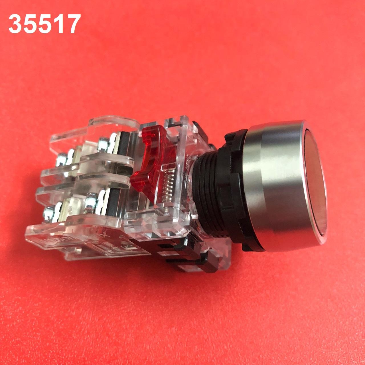 Nút nhấn không đèn viền nhôm phi 22 màu xanh lá  MRF-RM1G HANYOUNG