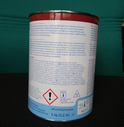 Mỡ chịu nhiệt cao  LGHP2/1 SKF