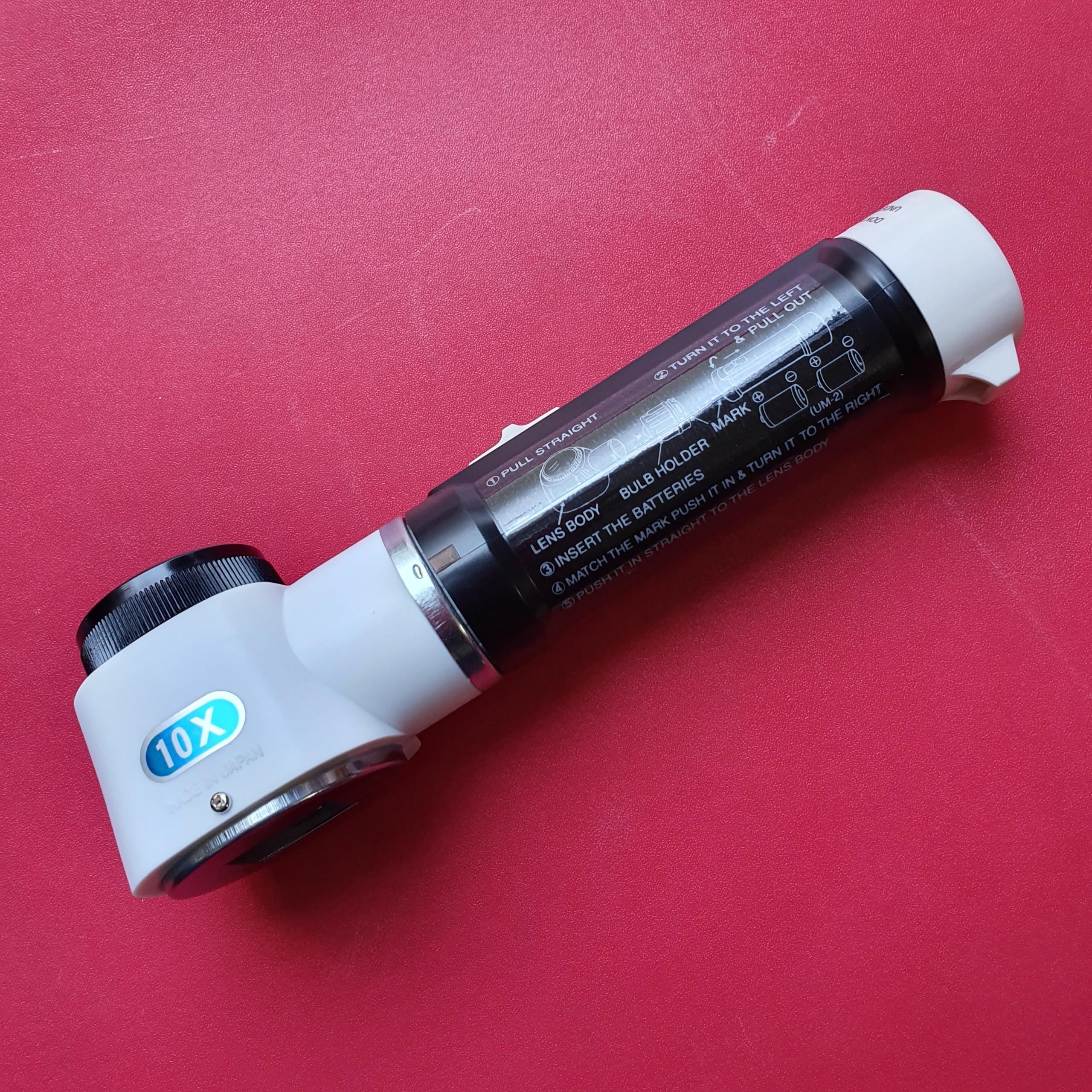 Kính lúp có đèn soi độ phóng đại 10x  M-100 Ikeda Lens