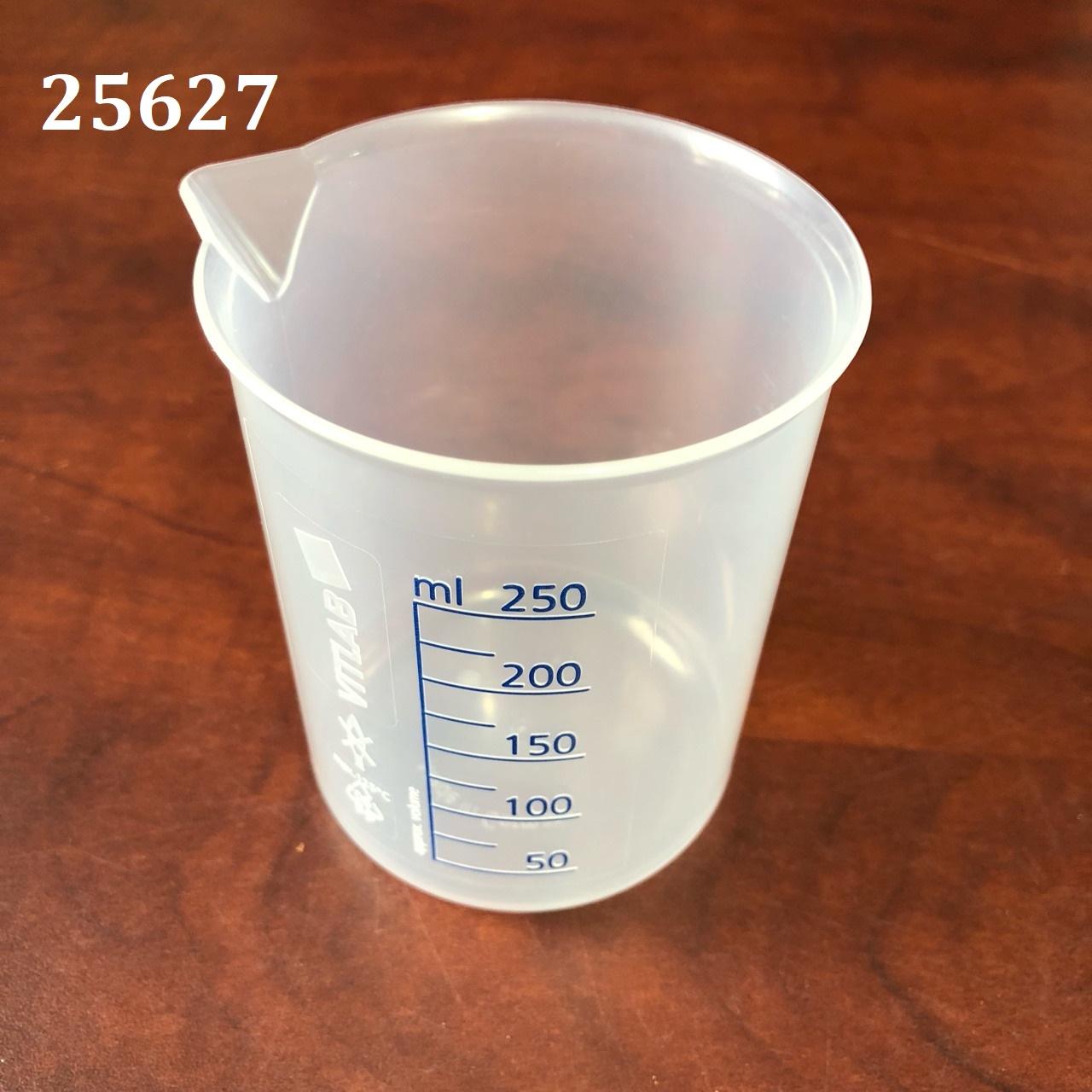 Cốc  nhựa PP, vạch xanh 250ml  610081 VITLAB