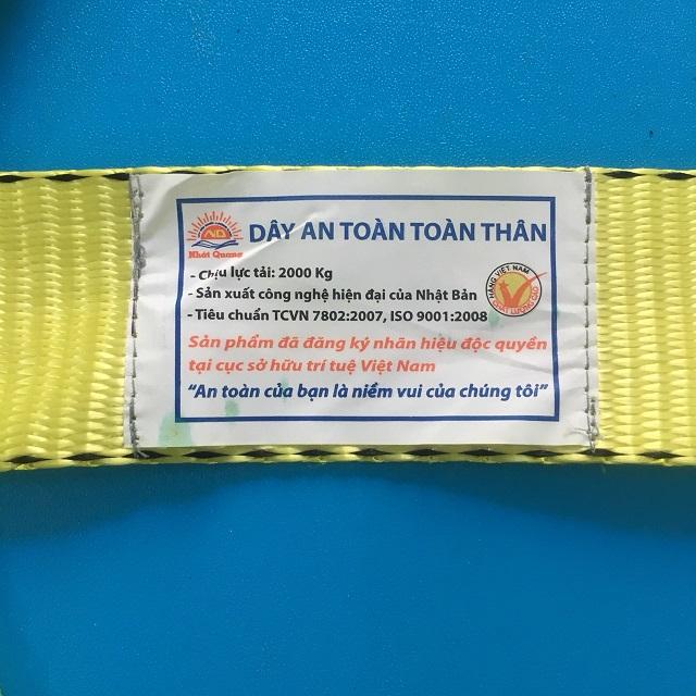 Dây đai an toàn toàn thân 2 móc lớn Tenma có giảm sốc  DAT-VN-29 OEM-209