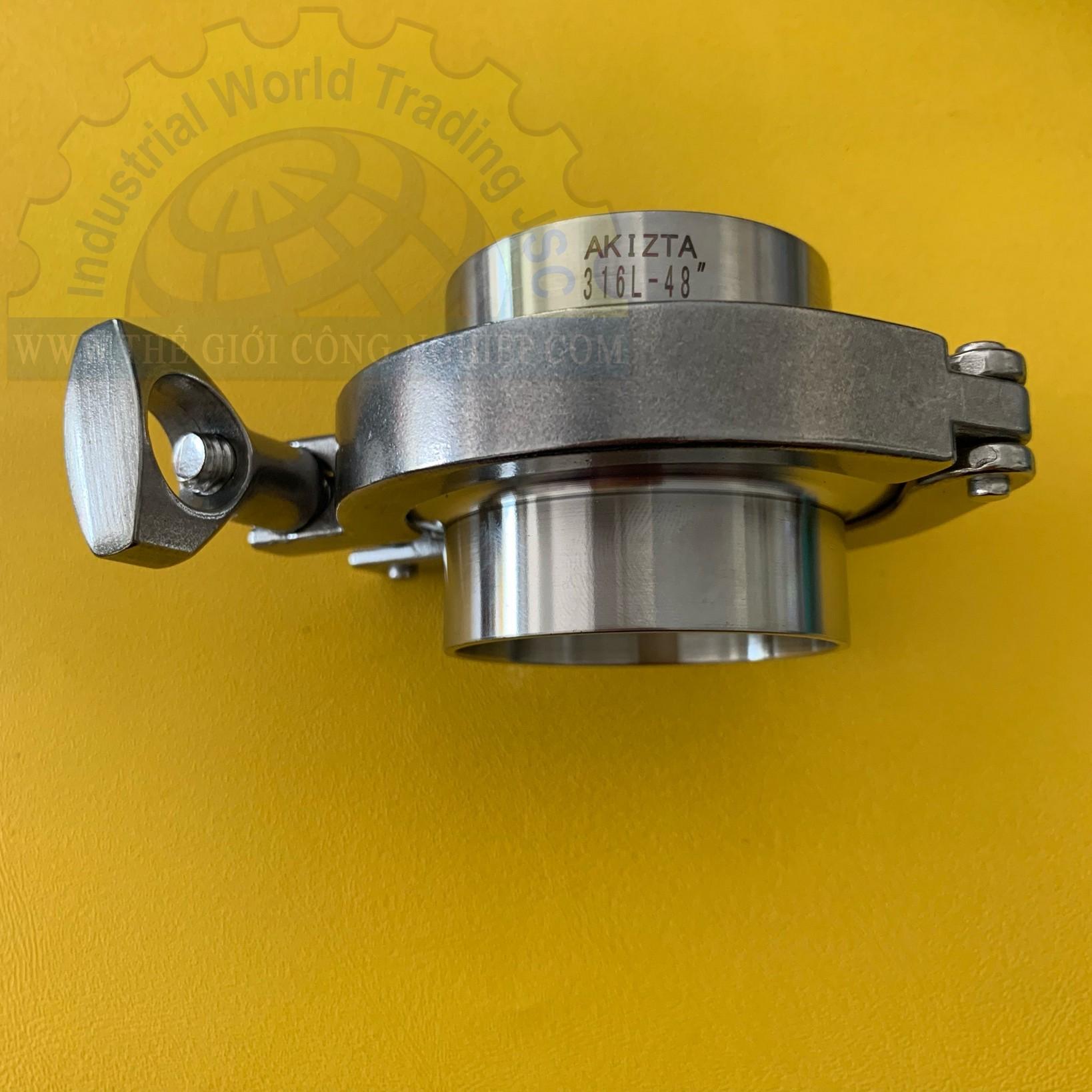 Khóa côn đầu ống bằng inox đường kính Ø49 clamp kẹp TGCN-44133 OEM-1338
