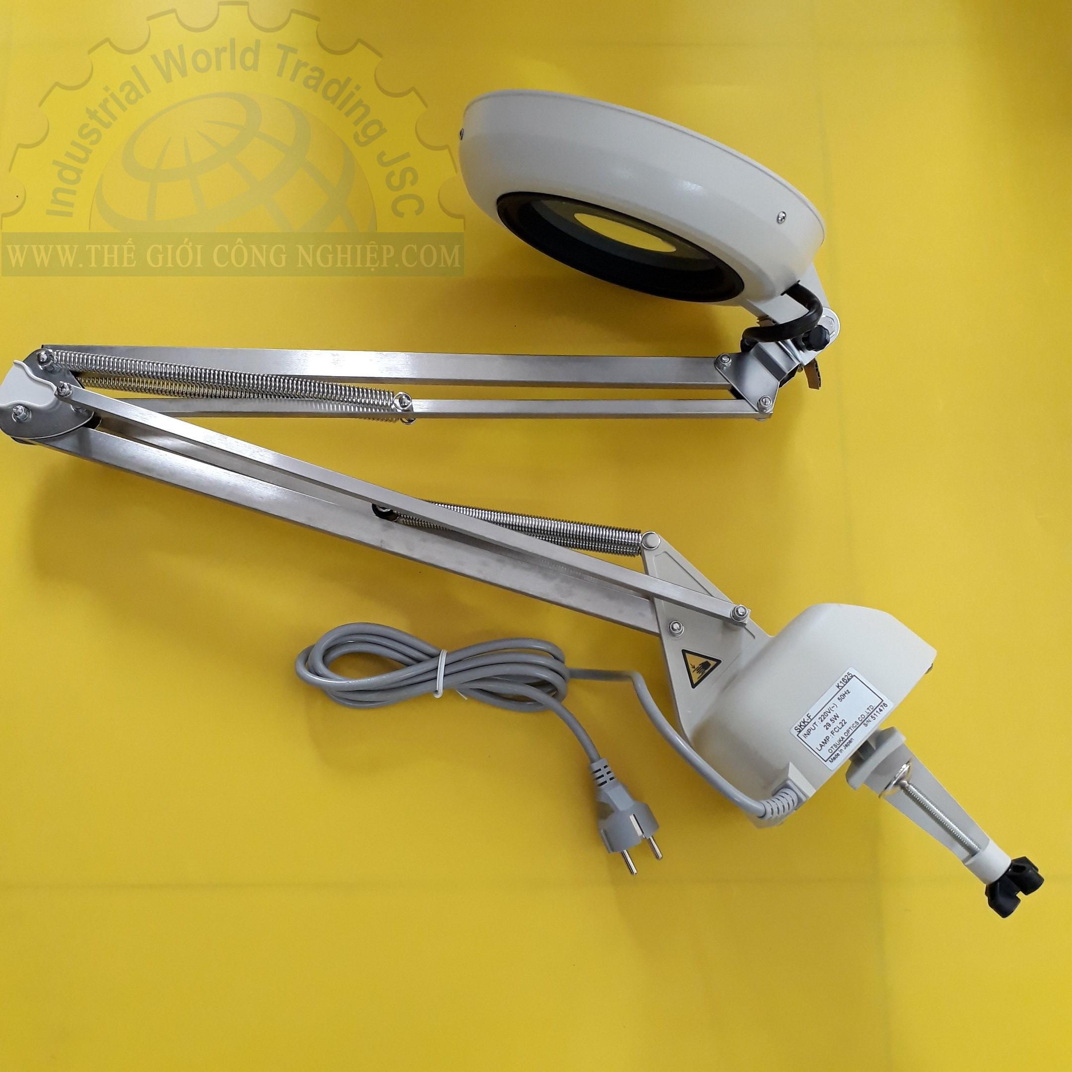 Kính lúp kẹp bàn dùng đèn huỳnh quang,có độ phóng đại 2 lần illuminated Light Scope SKK-F 2X OTSUKA