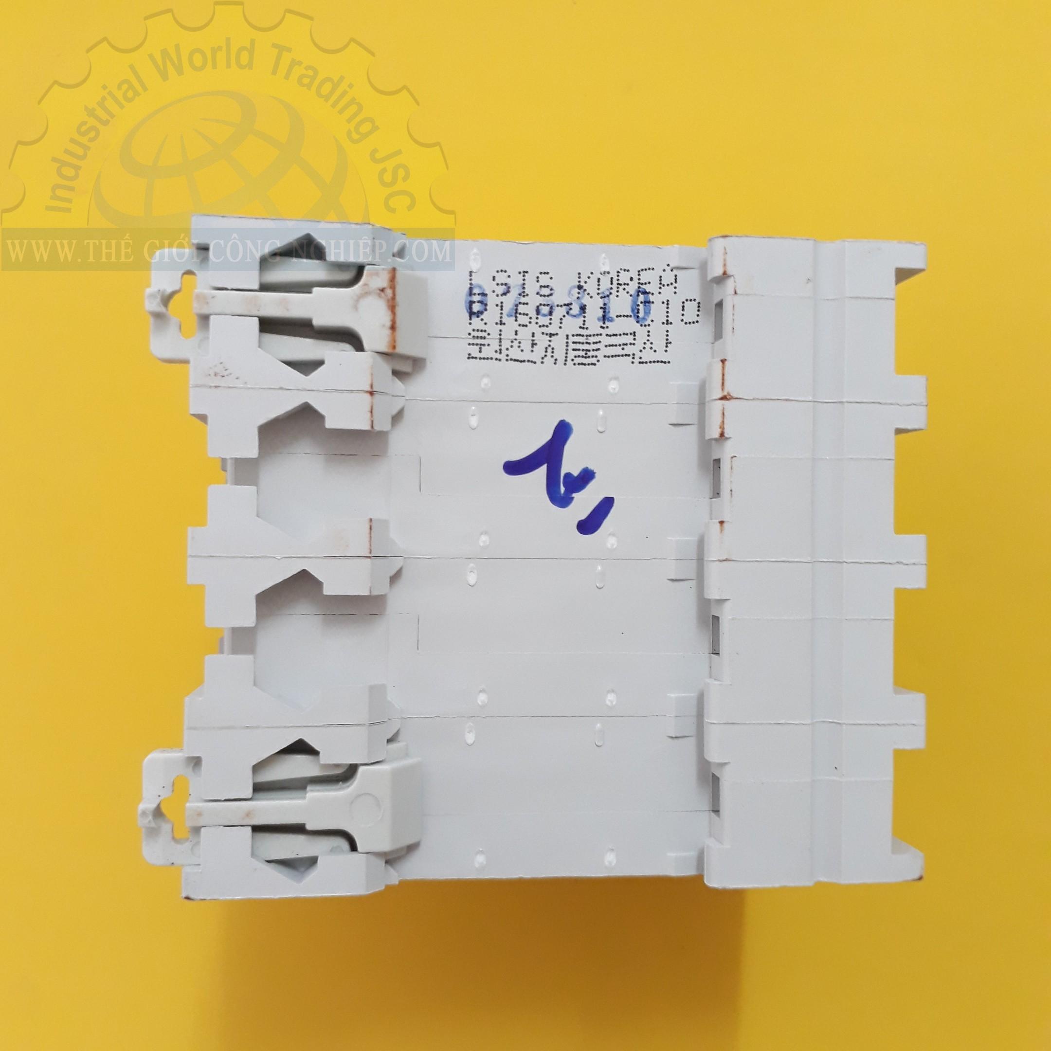 MCB ( gắn trên ray ) loại 4 cực cB tép 4 pha BKN 4P-10A LS