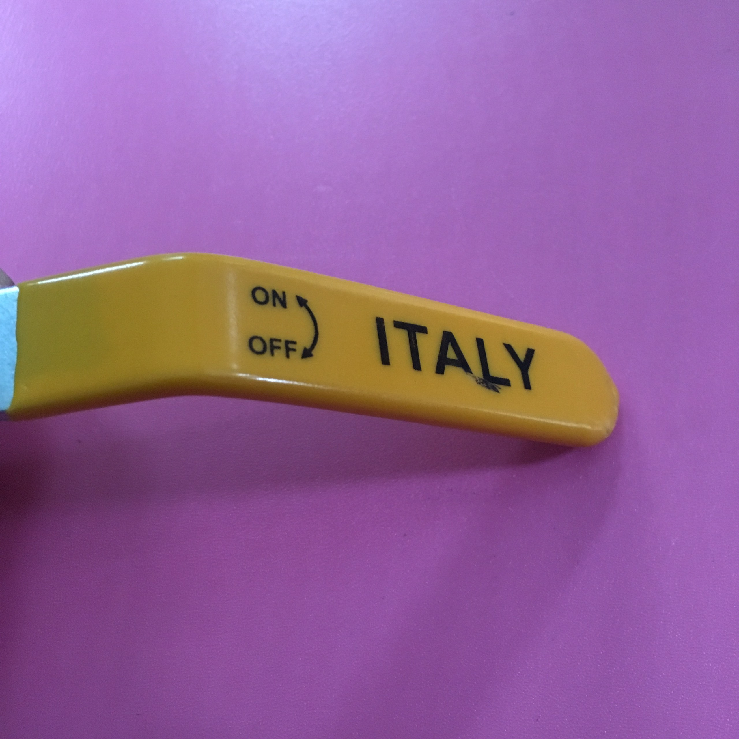 Van tay gạt Italy ø 34 1inch DN25 bằng đồng  TGCN-44084 OEM-1338