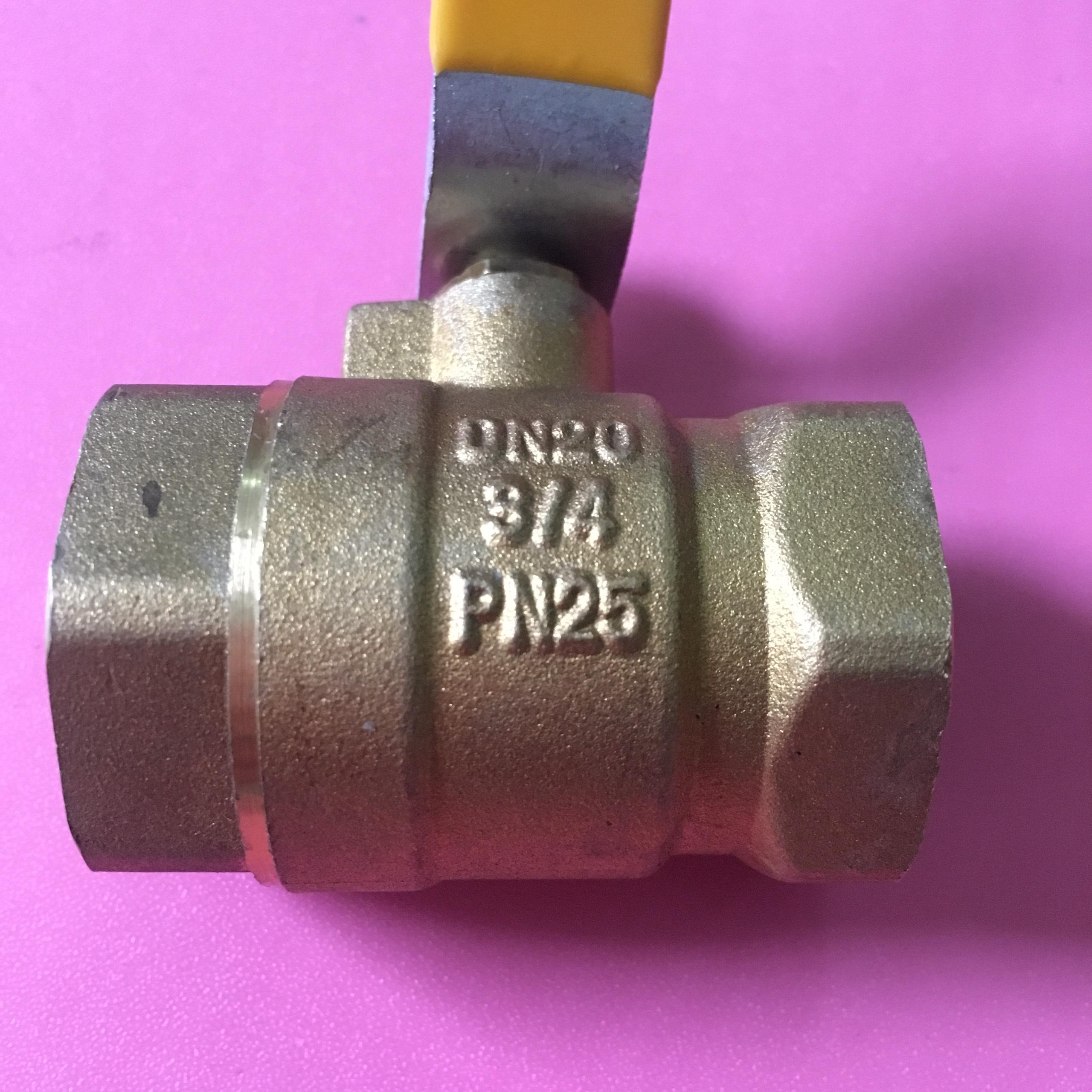 Van tay gạt Italy ø 27 3/4inch DN20 bằng đồng  TGCN-44043 OEM-1338