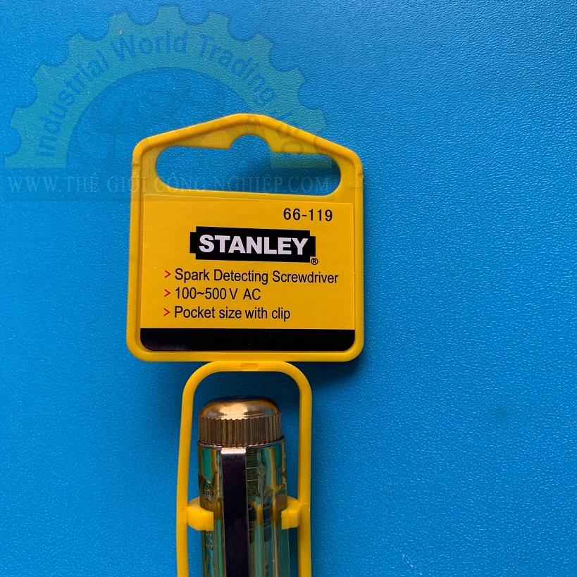 Bút thử điện  100V~500V. bÚT THỬ ĐIỆN 66-119 STANLEY