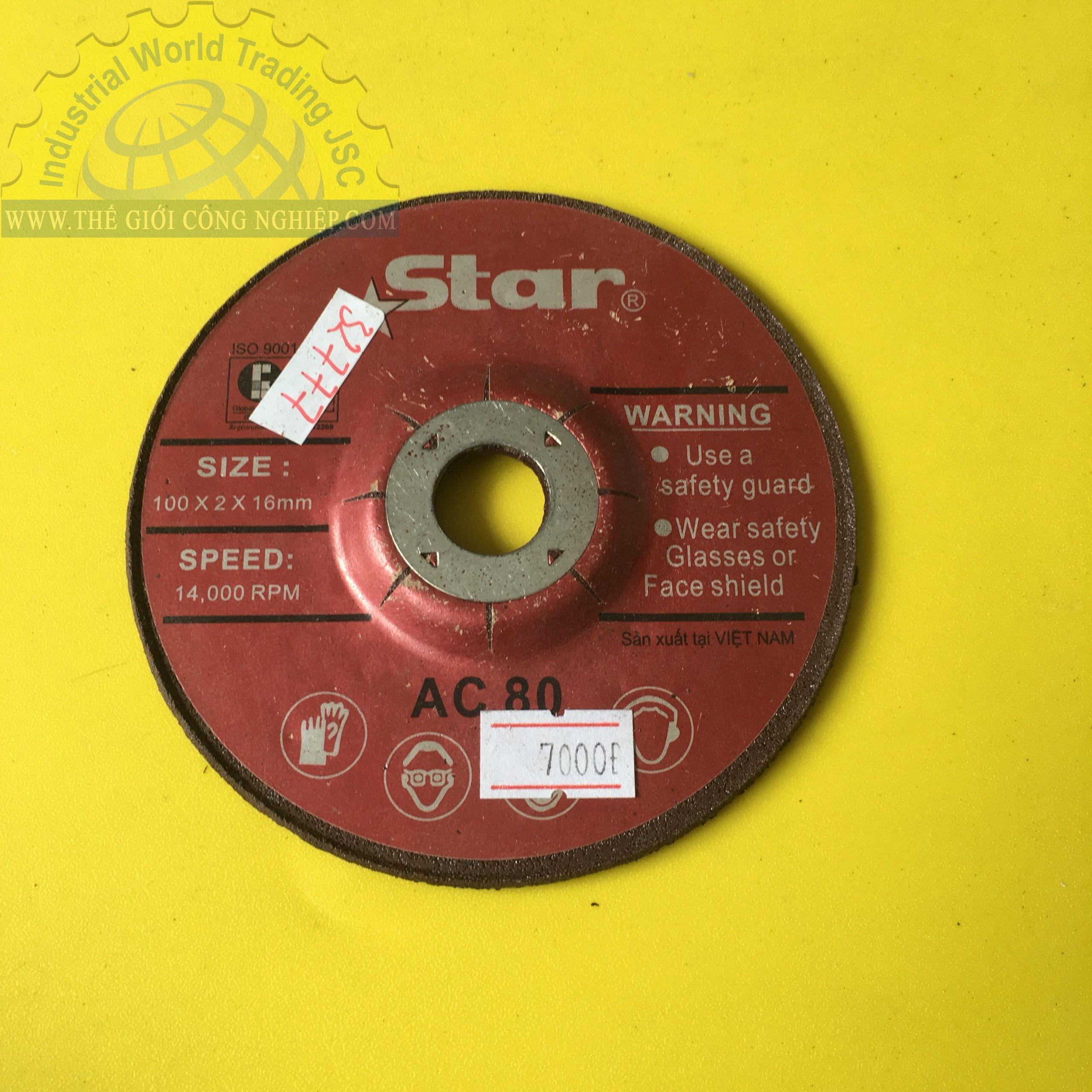 Đá mài 100 x 2 x 16mm   AC80 STAR