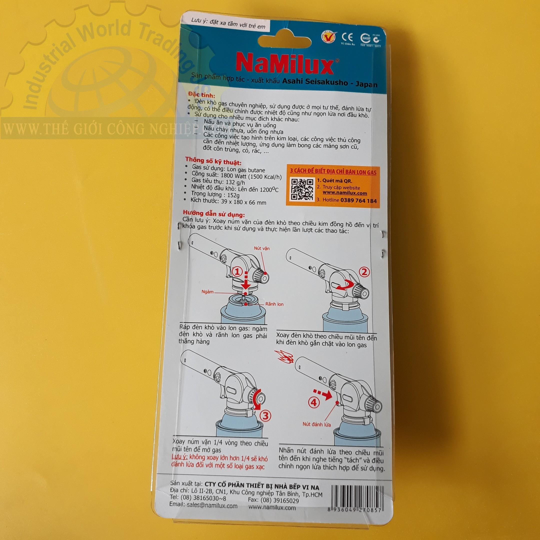 Đèn khò gas 1800W  TS1822RF Namilux