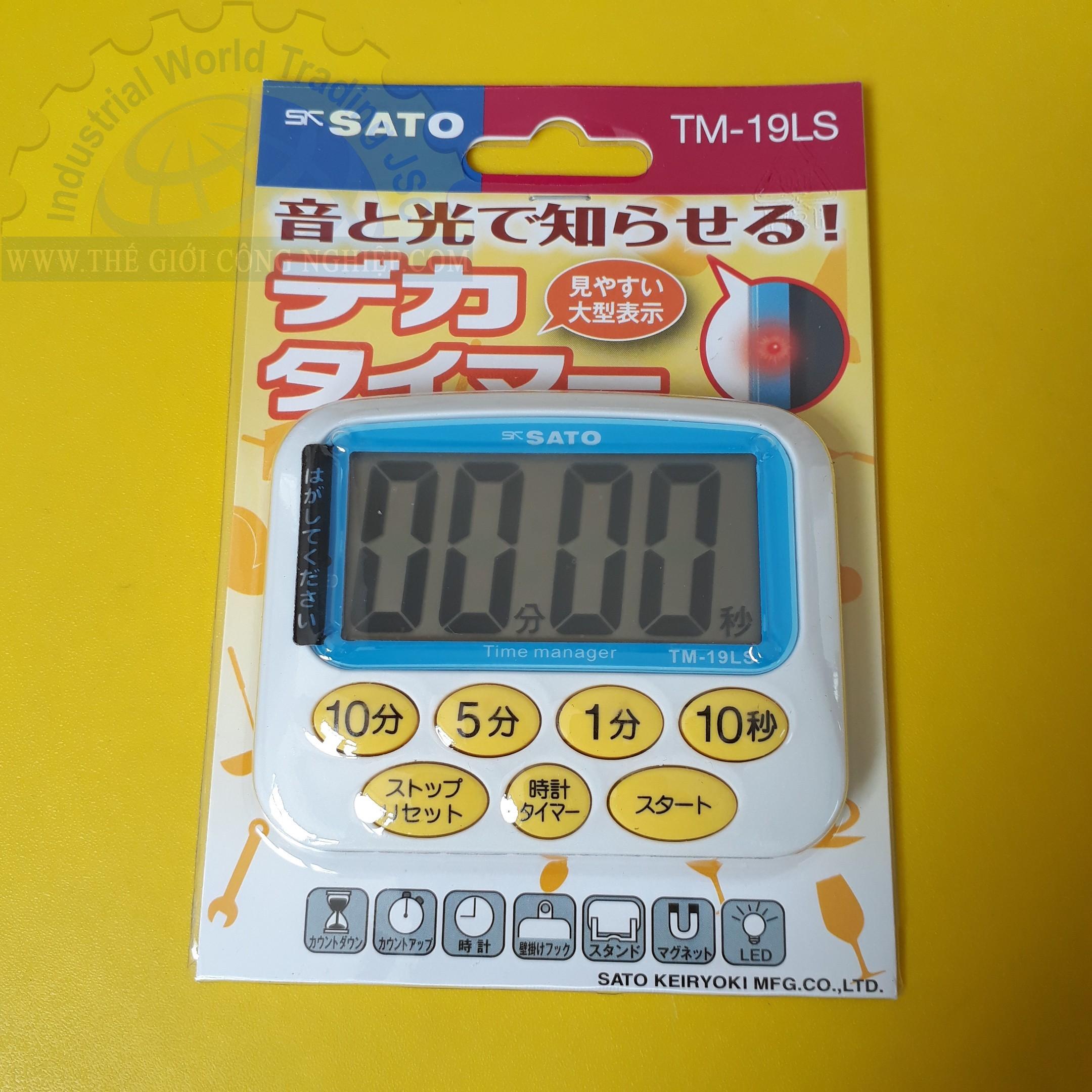 Đồng hồ bấm giờ 1 giây đến 99 phút  TM-19LS No.1709-02 SATO