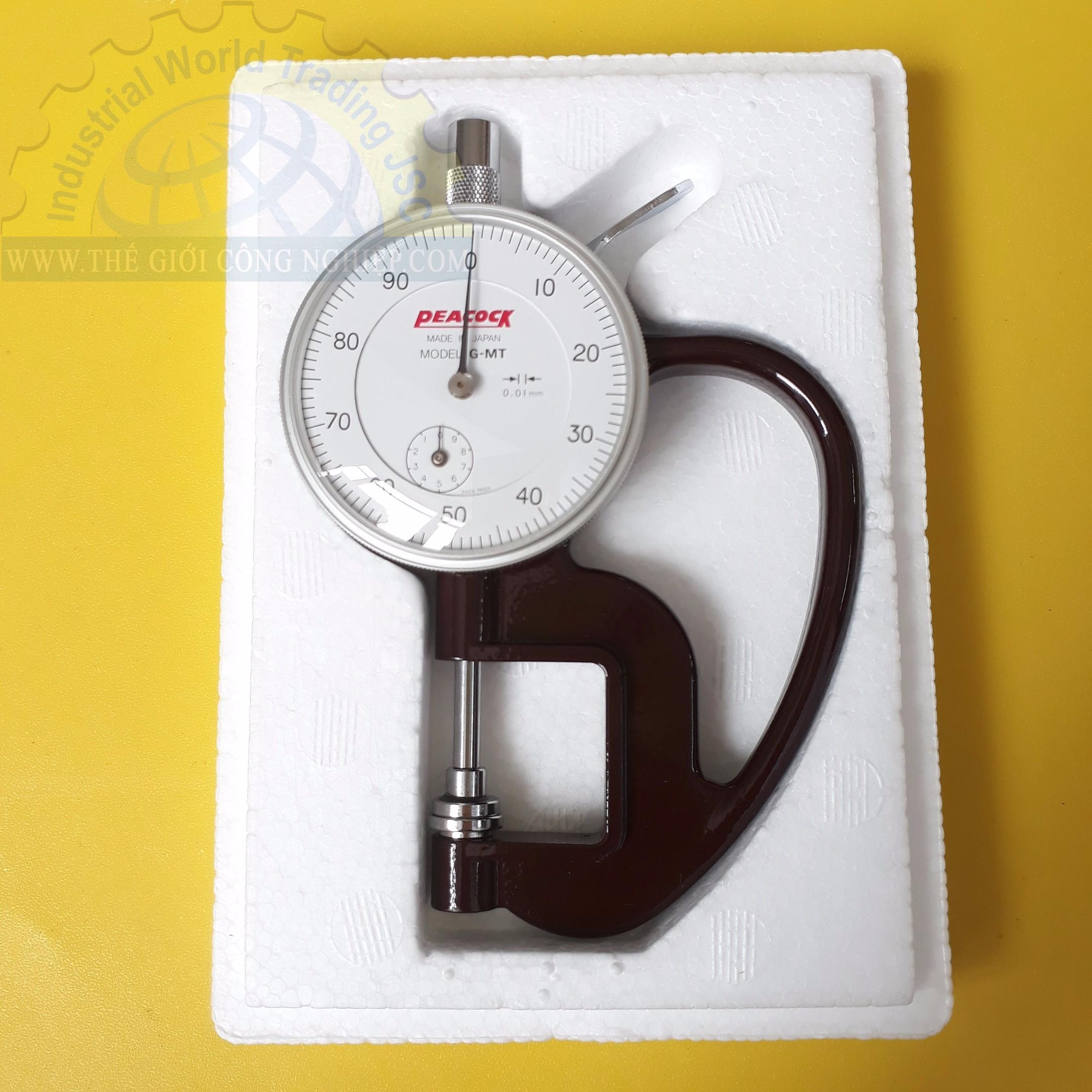 Đồng hồ đo độ dày cơ 10mm/0.01mm  G-MT PEACOCK