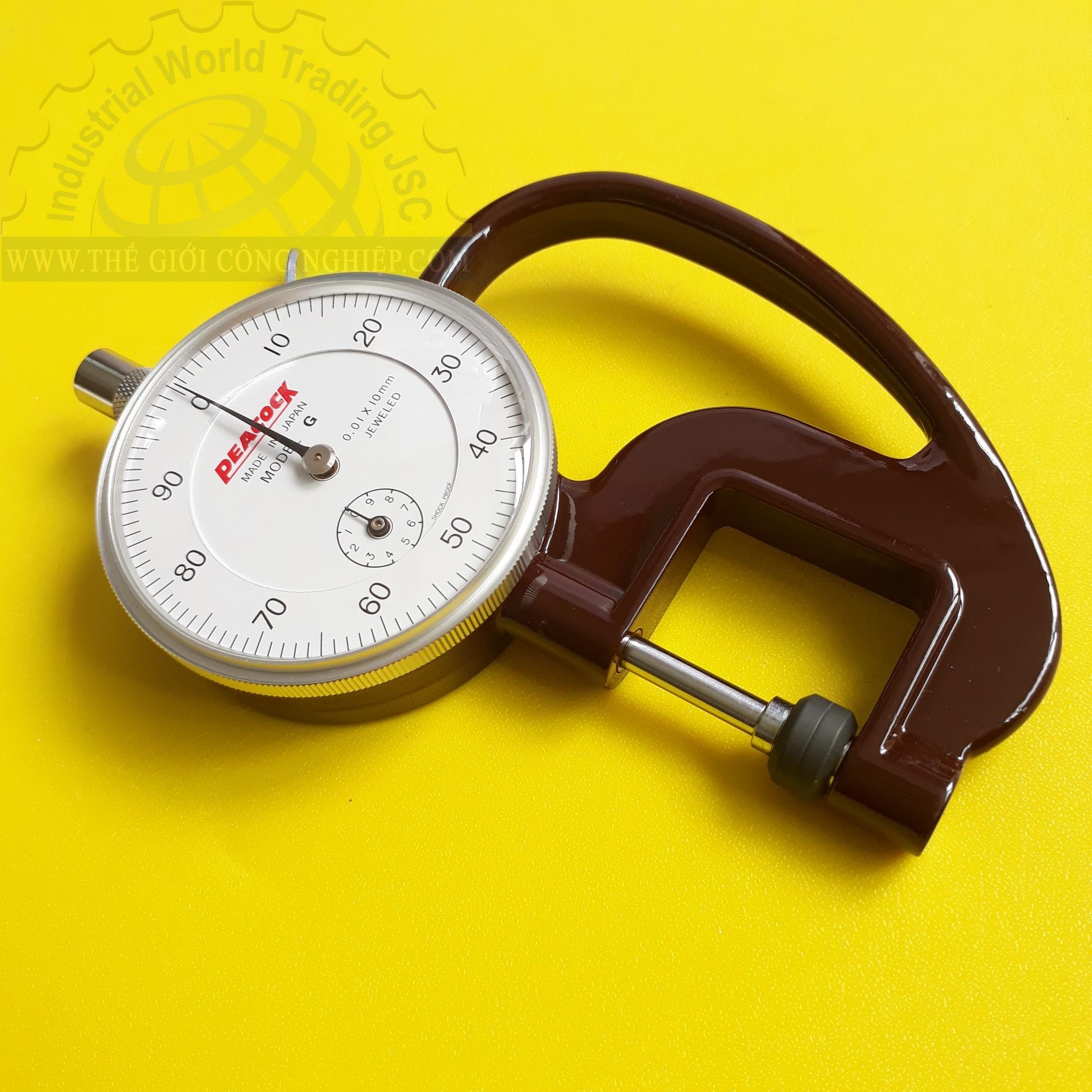 Đồng hồ đo độ dày cơ 10x0.01mm Đồng hồ đo độ dày Peacock, G, Dial Thickness Gauges G PEACOCK