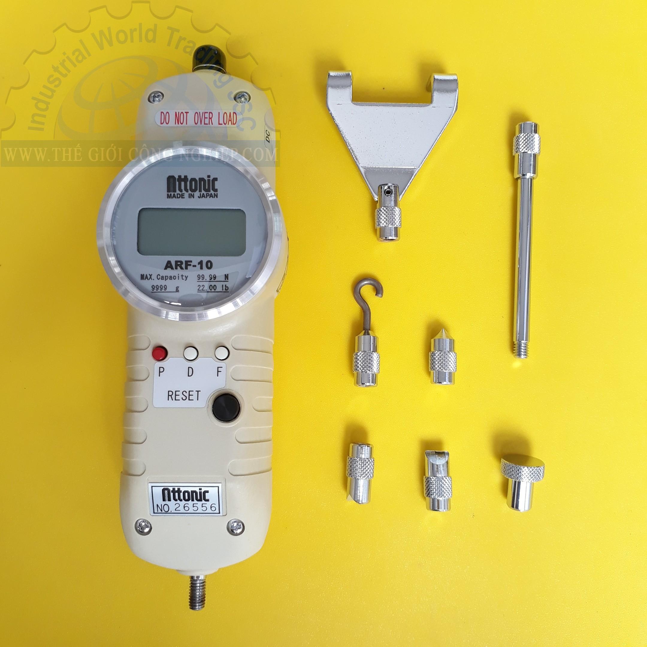 Đồng hồ đo lực kéo, đẩy điện tử 99.99N/ 9999gf digital Force Gauge ARF-10 ATTONIC