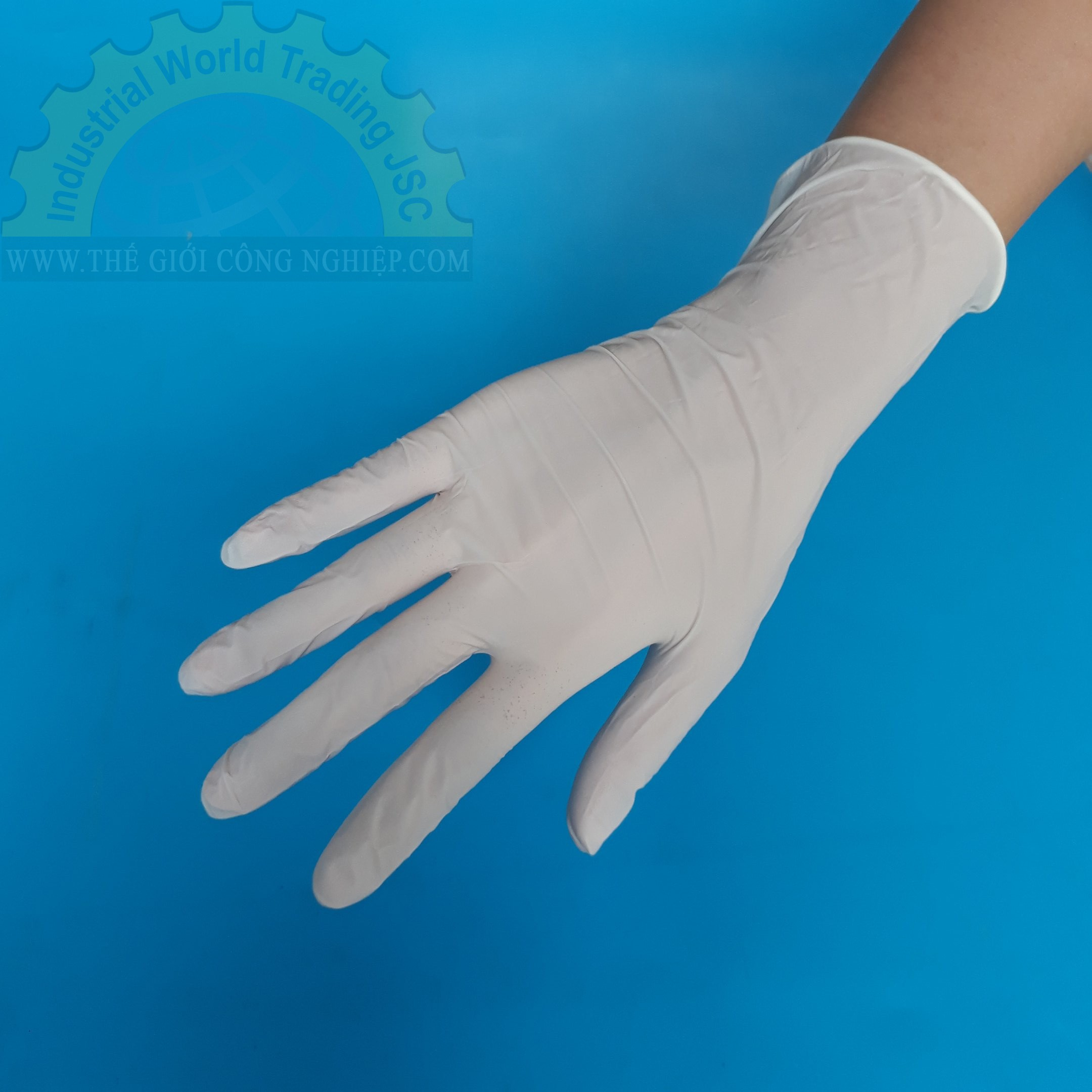 Găng tay nitrile màu trắng size L  TGCN-35905 Vglove