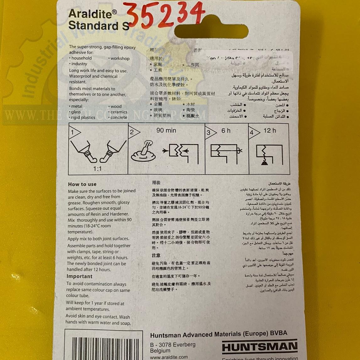 Keo 2 thành phần dán khô nhanh 90 phút 17ml keo hai thành phần Alradite standard (2x17ml/vỉ) TGCN-35234 Araldite