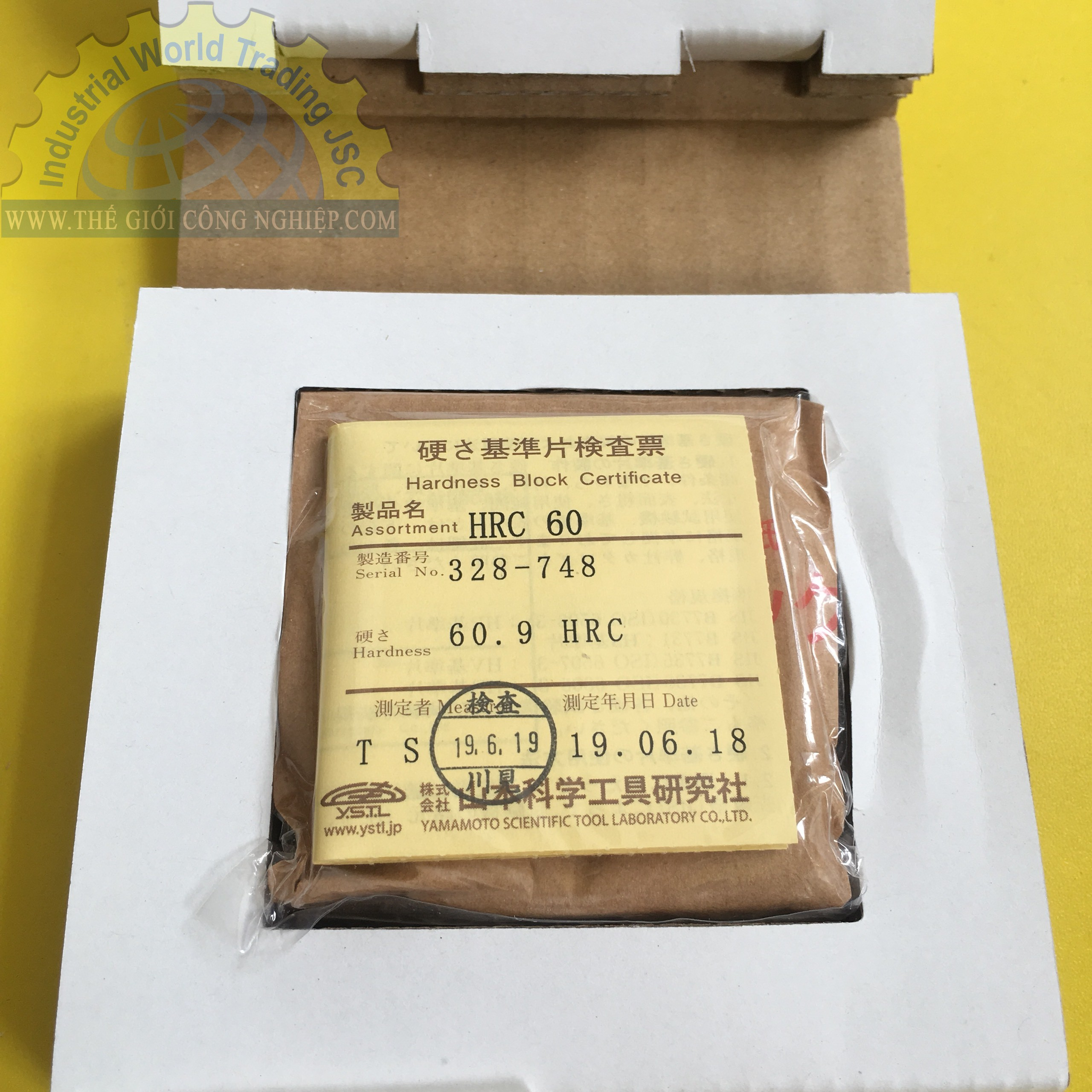 Mẫu chuẩn độ cứng HRC60  HRC-60 Yamamoto