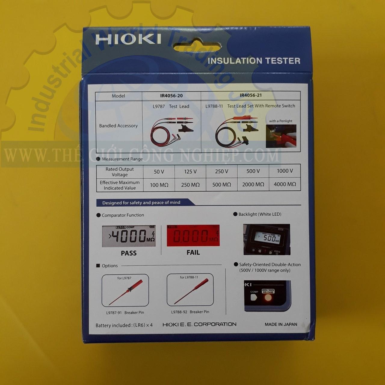 Máy đo điện trở cách điện  IR4056-21 HIOKI