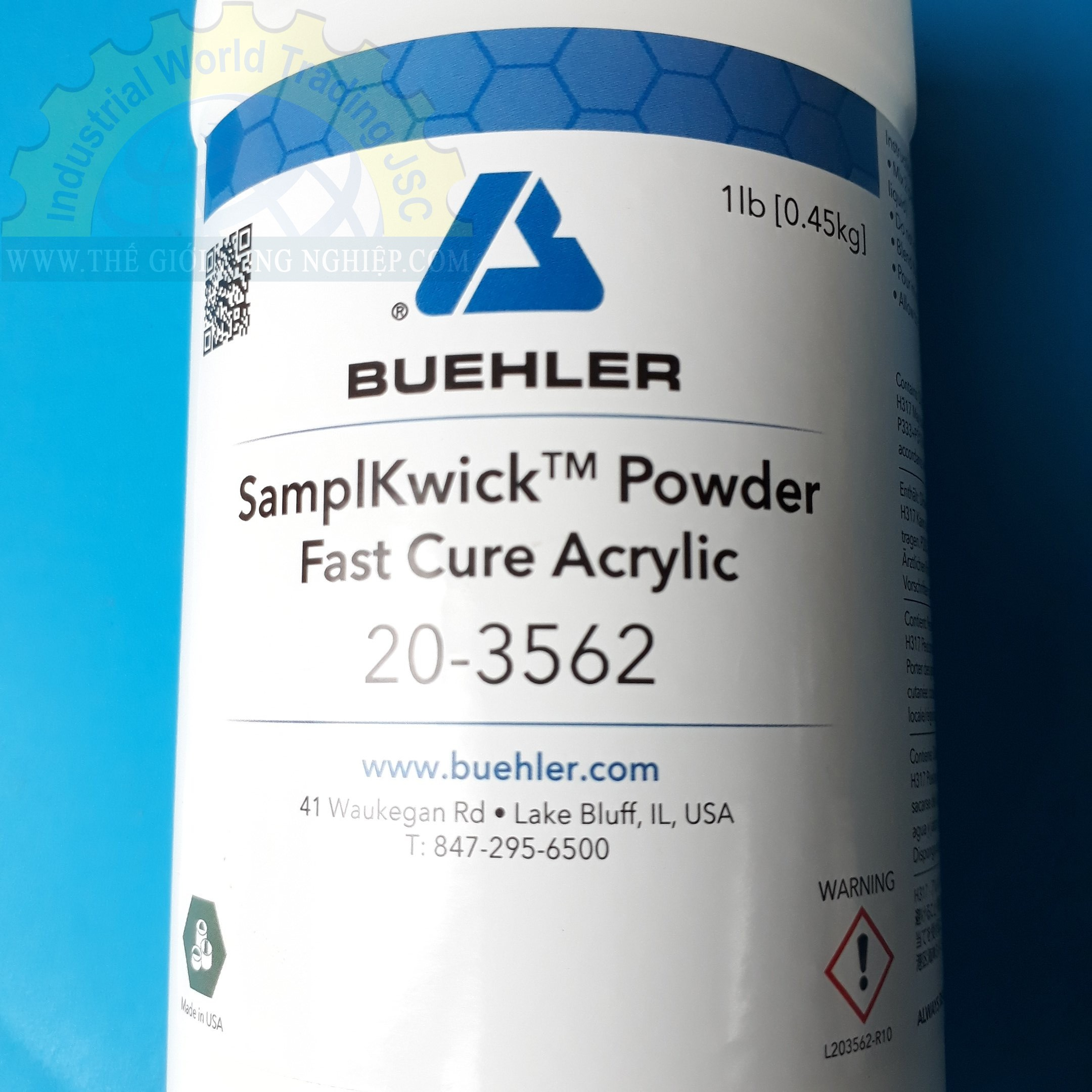 Nhựa đúc mẫu nguội hệ ACRYLIC dùng cho phòng thí nghiệm chuẩn bị mẫu   20-3562 Buehler