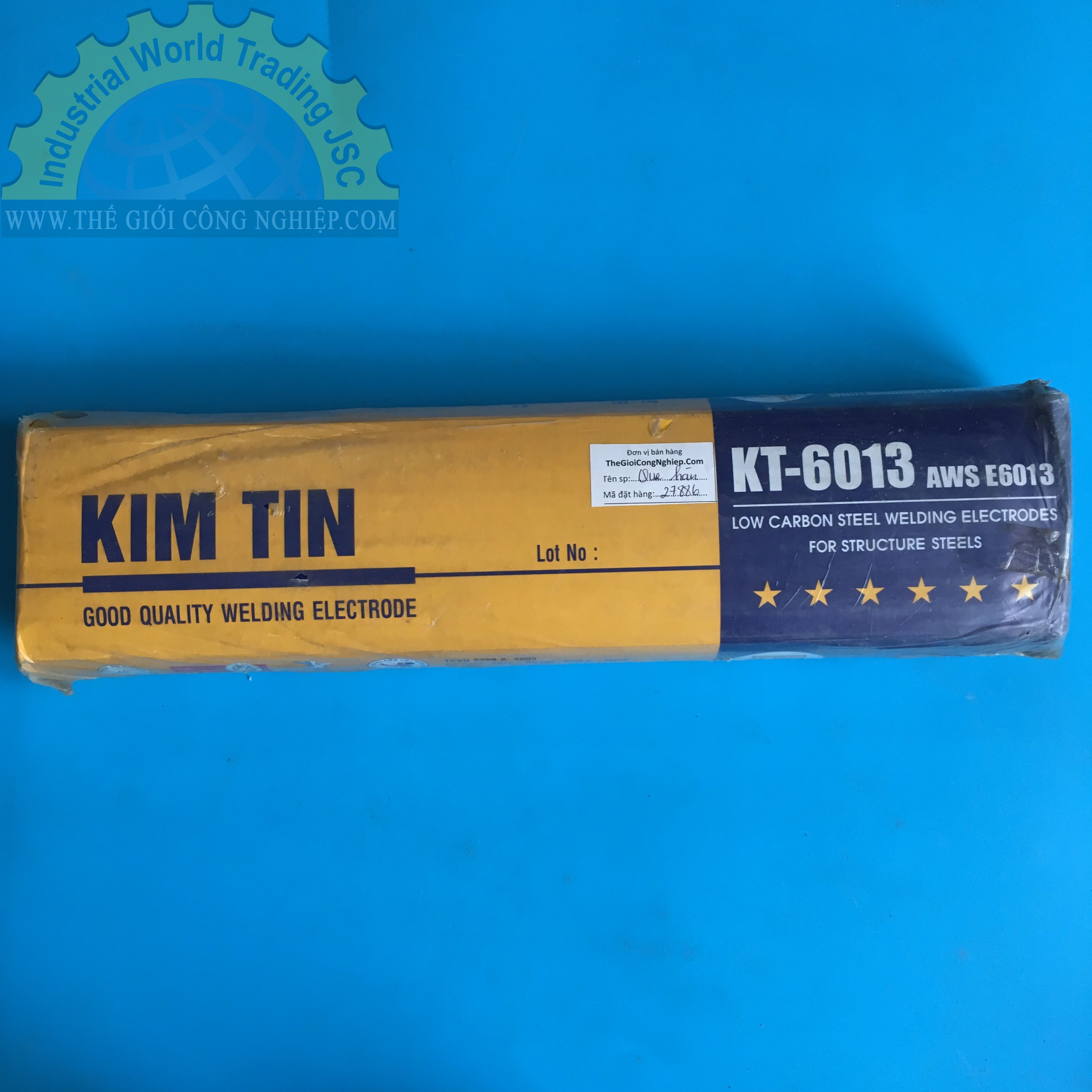 Que hàn sắt 3.2  KT 6013 3.2X350 KT-6013 3.2X350 Kim Tín