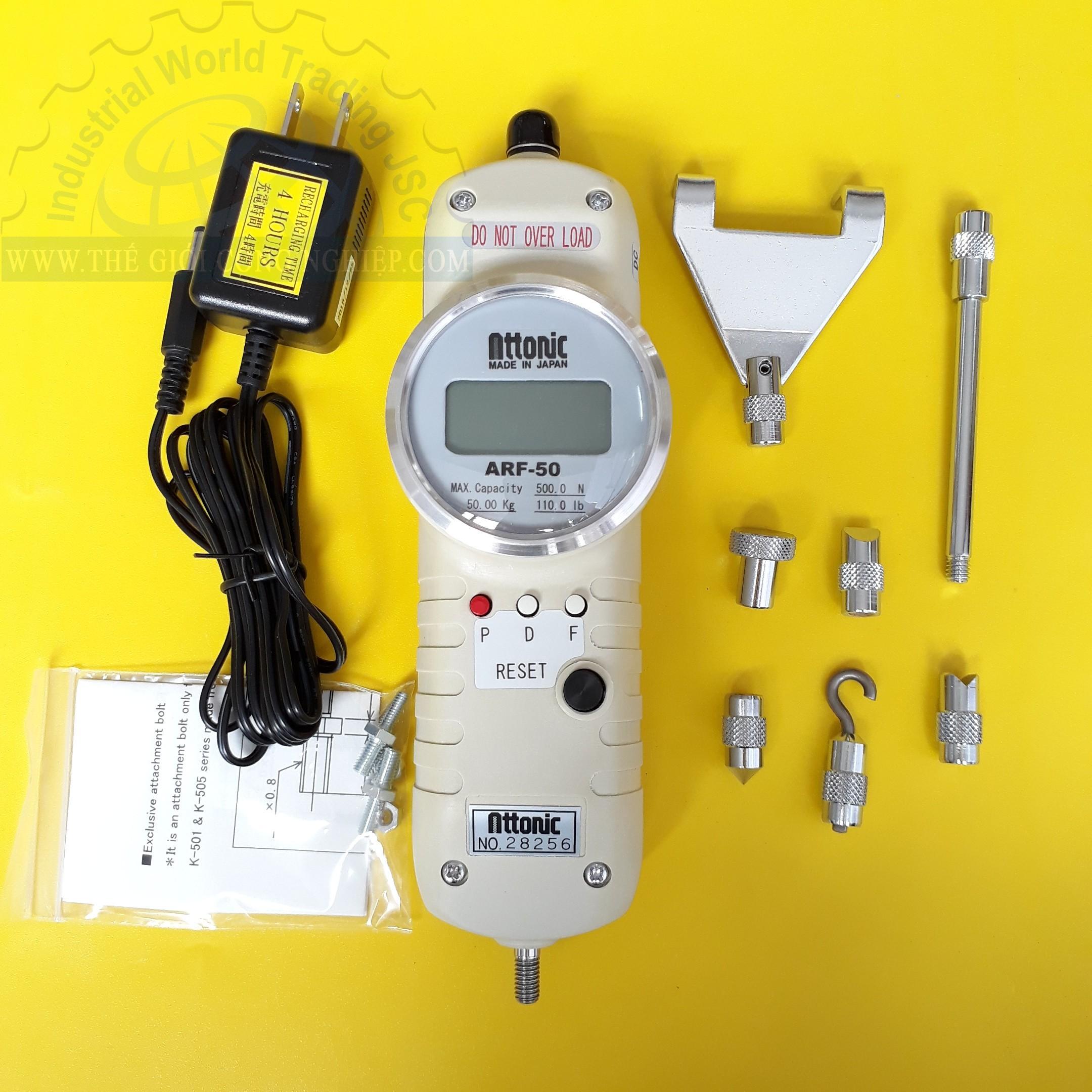 Thiết bị đo lực kéo, đẩy điện tử 500 N/50 kgf digital force gauge ARF-50 ATTONIC