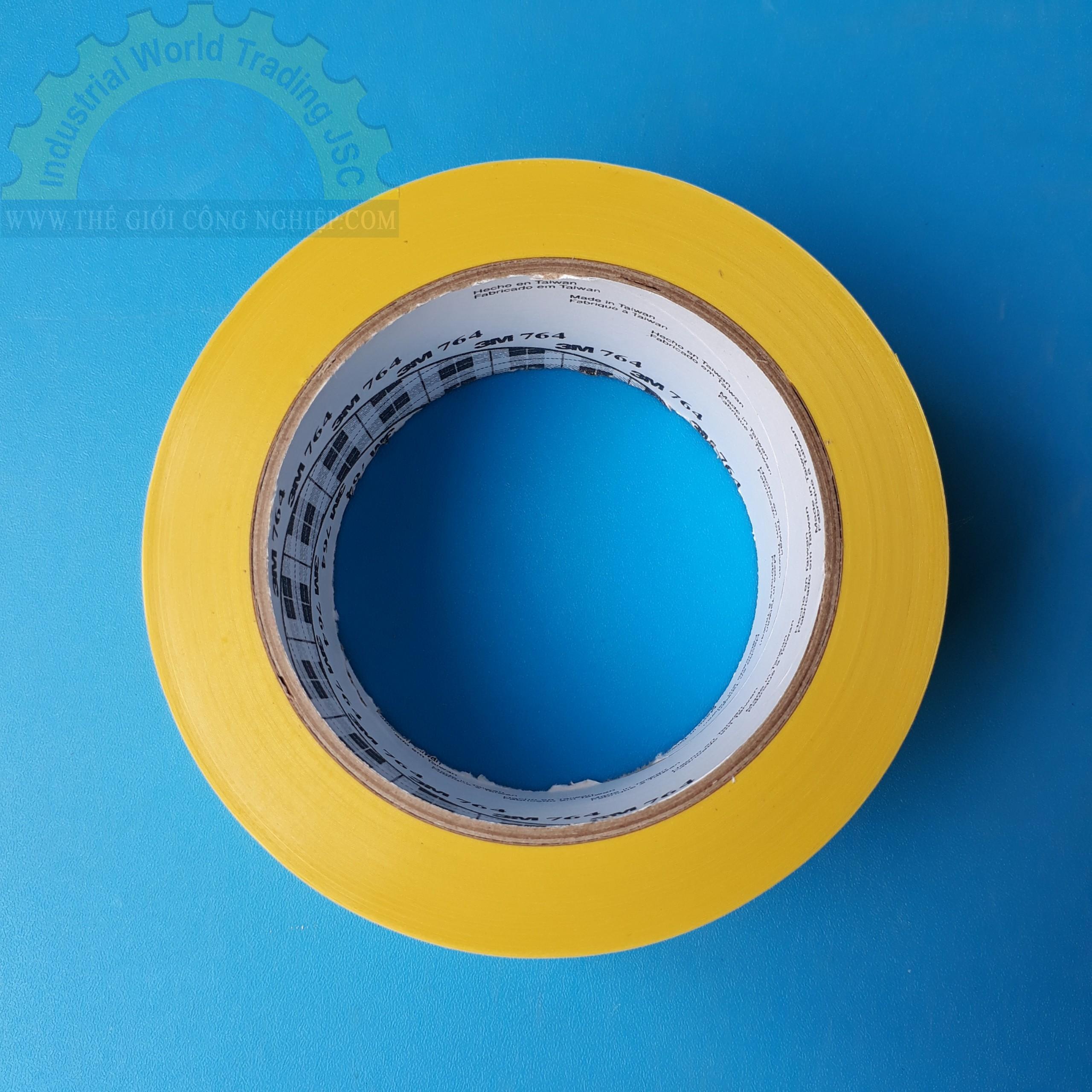 Băng keo dán nền Vinyl 50mm x 33m  764 Vàng 3M