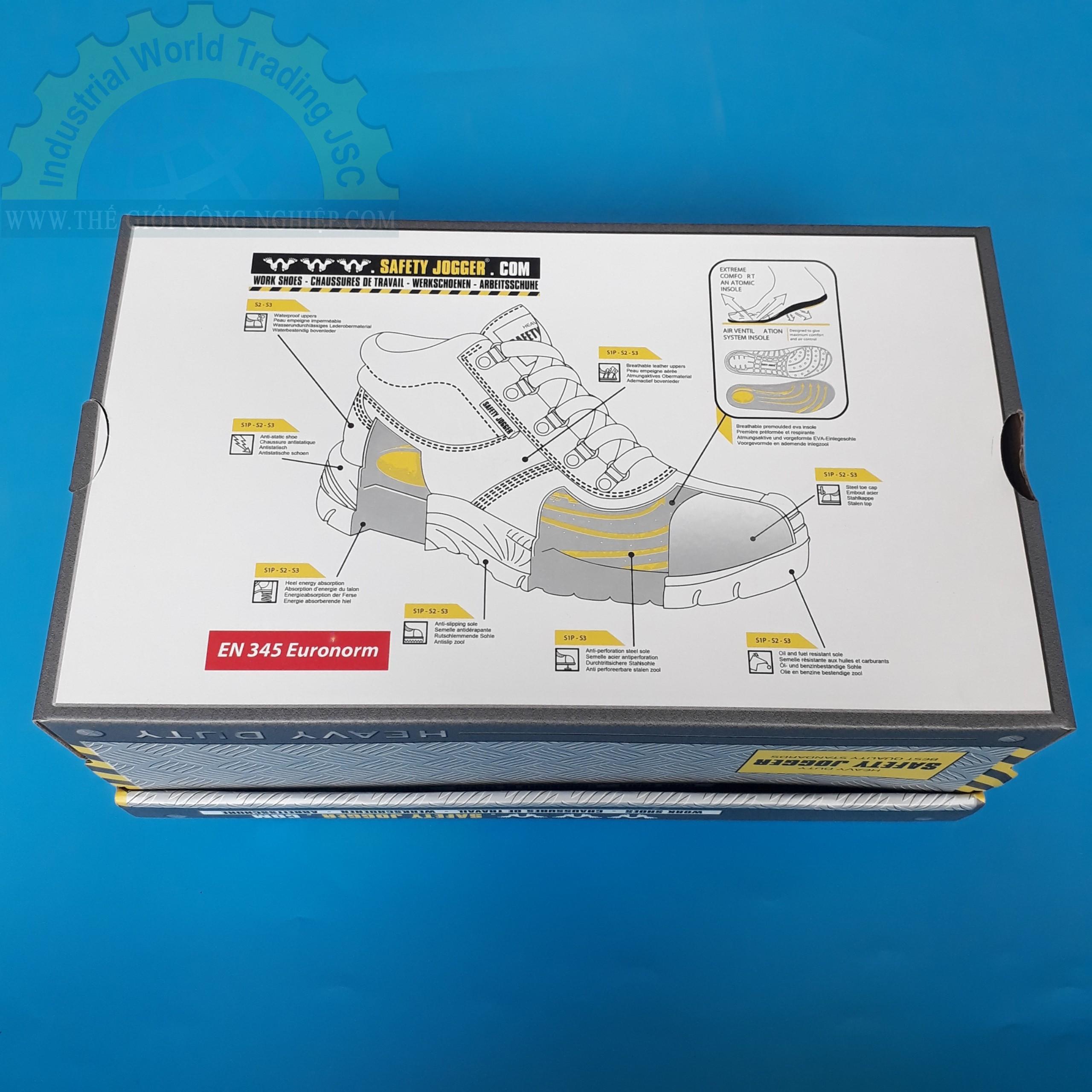 Giày bảo hộ lao động size 40  TGCN-37652 Bestrun 2 S3 SAFETYJOGGER
