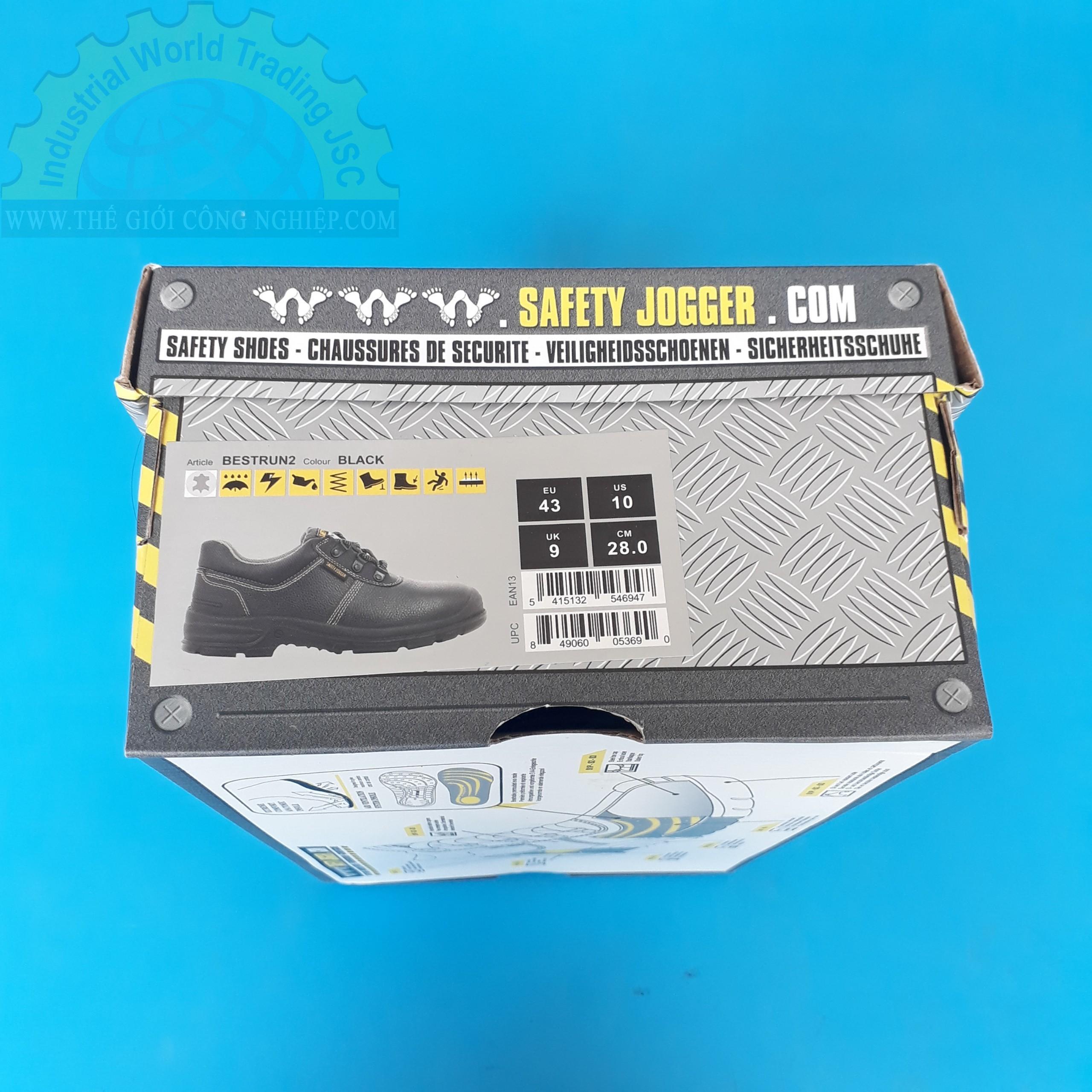 Giày bảo hộ lao động size 43  TGCN-34217 SAFETYJOGGER