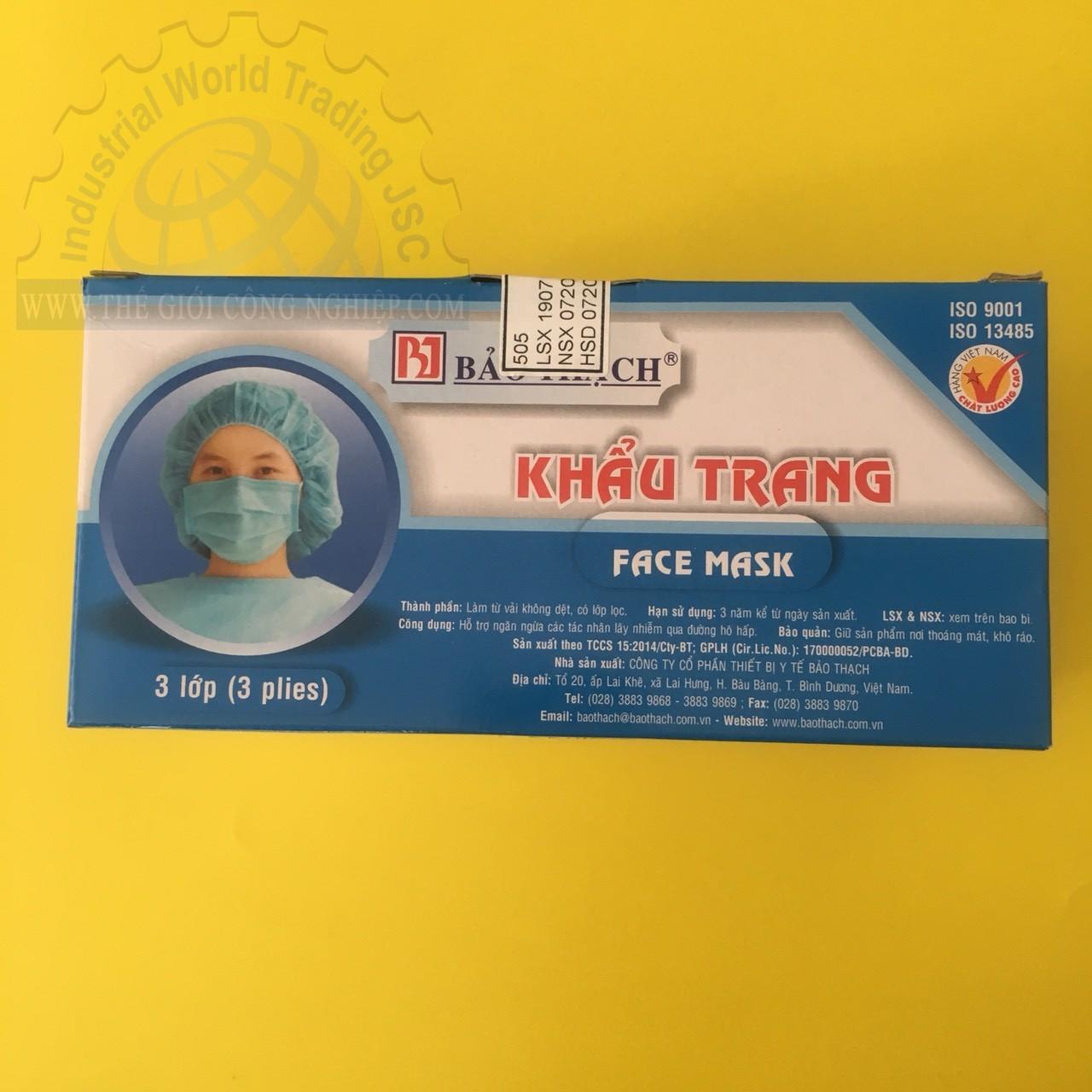 Khẩu trang y tế 3 lớp màu xanh  TGCN-35524 OEM-1214